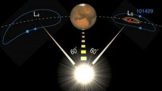 Троянский астероид Марса может быть осколком Земной Луны