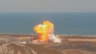 Starship SN9 взорвался при посадке в ходе испытаний